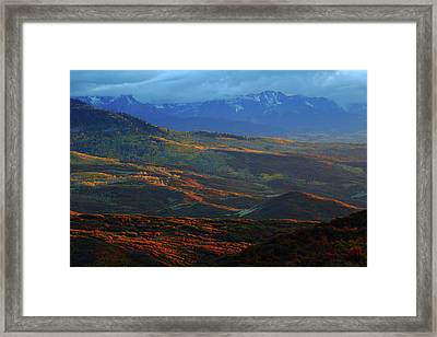 Framed Print featuring the photograph Sunset During Autumn Below The San Juan Mountains In Colorado by Jetson Nguyen