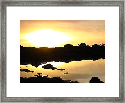 Sunset Framed Print by Edan Chapman