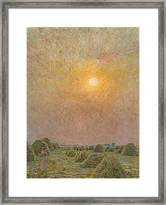 Sunset Framed Print by Emile Claus
