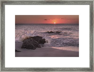 Sunset Escape Framed Print by Betsy Knapp