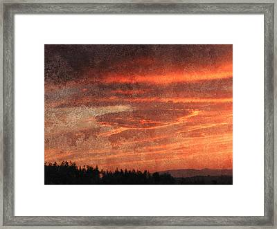 Sunset Event Framed Print by Dorothy Berry-Lound