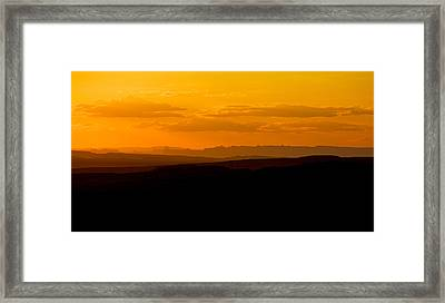 Framed Print featuring the photograph Sunset by Evgeny Vasenev