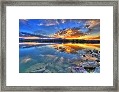 Sunset Explosion Framed Print by Scott Mahon