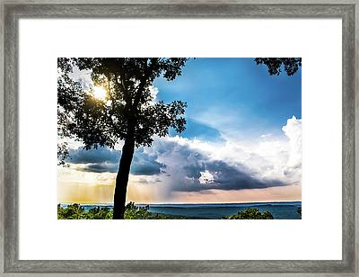 Framed Print featuring the photograph Sunset Explosion by Shelby Young