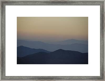 Sunset Fade Framed Print
