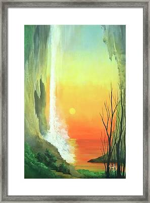 Sunset Fall  Framed Print by Daniel Sanchez