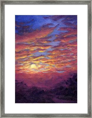 Sunset Fantasy Framed Print by Elaine Farmer