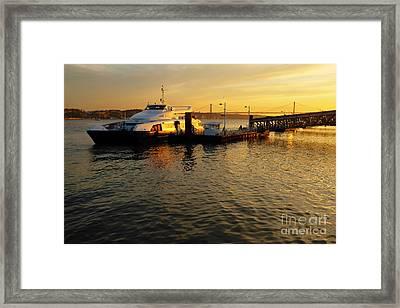 Sunset Ferryboat Framed Print