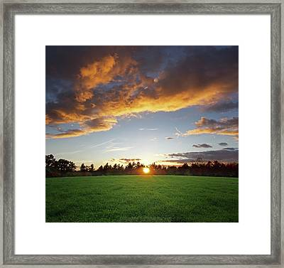 Sunset Field Framed Print by Jerry LoFaro