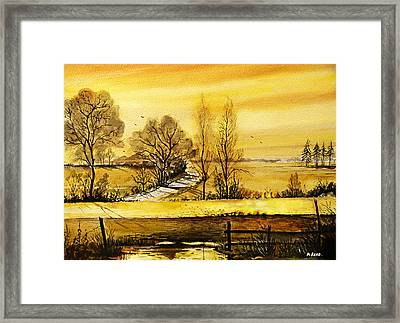 Sunset Fields Framed Print by Andrew Read