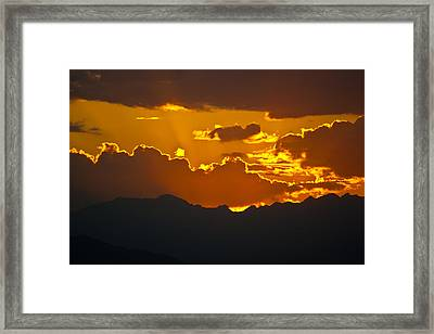 Sunset Fire Framed Print by Colleen Coccia
