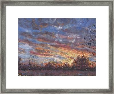 Sunset Fires Framed Print by Horacio Prada