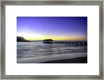 Sunset Fisherman Framed Print