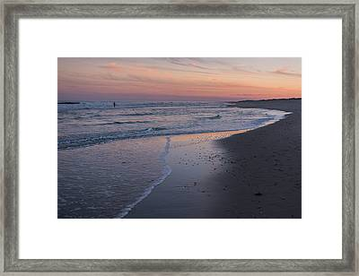 Framed Print featuring the photograph Sunset Fishing Seaside Park Nj by Terry DeLuco