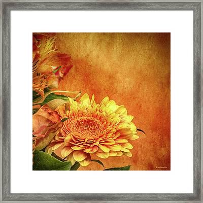 Sunset Flowers Framed Print