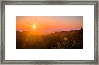 Sunset Fog Over The Pacific #1 Framed Print