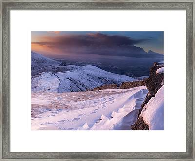 Sunset Following The Mourne Wall Framed Print