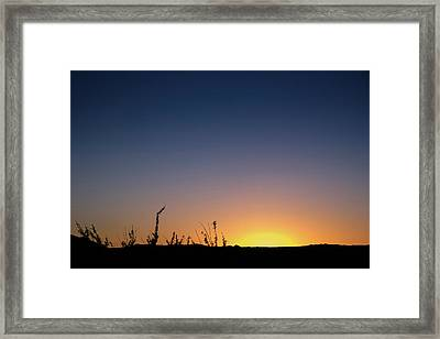 Sunset Fort Mohave Az Framed Print