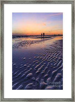 Sunset Fort Myers Beach Florida Framed Print