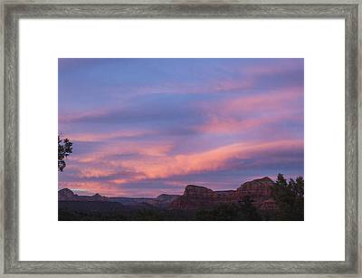 Sunset From Bell Rock Trail Framed Print