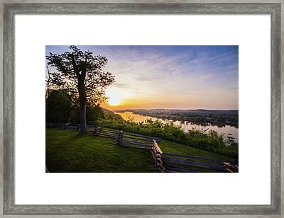 Sunset From Boreman Park Framed Print