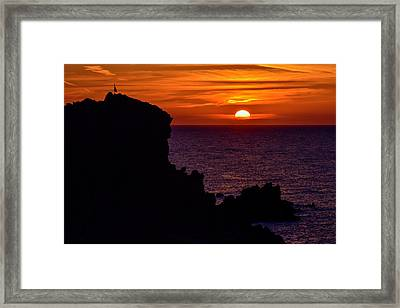 Sunset From Costa Paradiso Framed Print