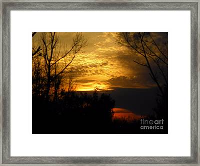 Sunset From Farm Framed Print