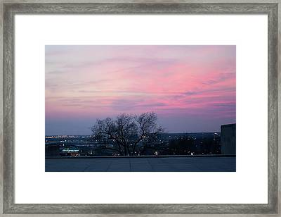 Sunset From Liberty Memorial Framed Print