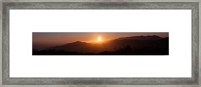 Sunset From Marine Headlands San Francisco Framed Print