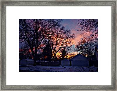 Sunset From My View Framed Print by Kathy M Krause