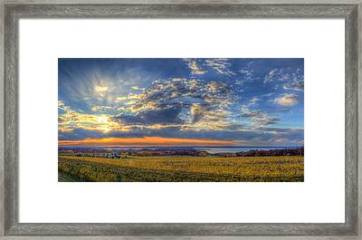 Sunset From Old Mission Framed Print