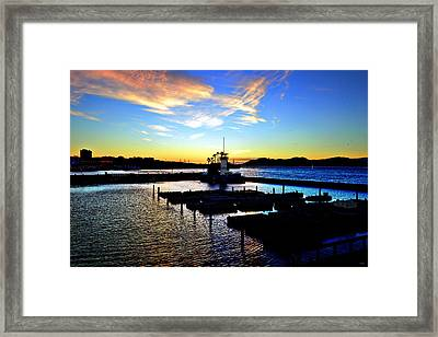 Framed Print featuring the photograph Sunset From Pier 39 - San Fransisco by Glenn McCarthy Art and Photography