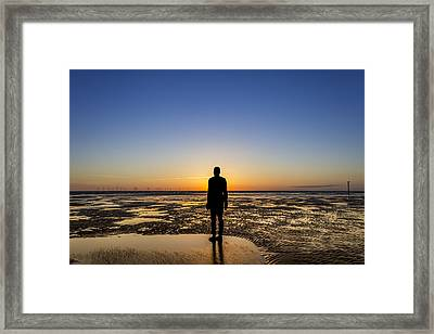 Sunset From The Beach Framed Print by Paul Madden