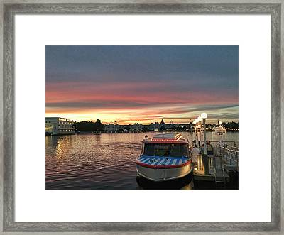 Sunset From The Boardwalk Framed Print