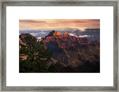 Sunset From The Grand Canyon Lodge Framed Print by Adam Schallau