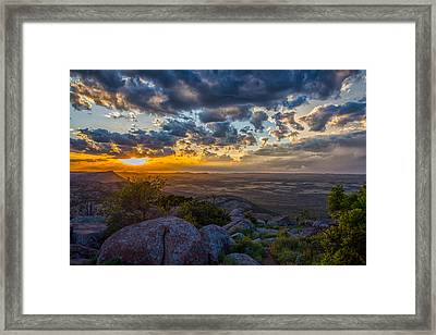 Sunset From The Heavens Framed Print