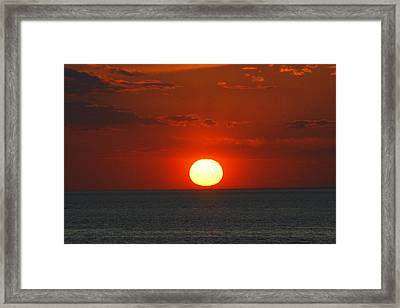 Sunset From The Montauket Hotel Framed Print