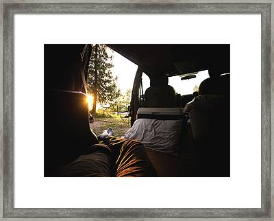 Sunset From The Van Framed Print