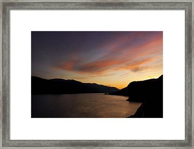Sunset From Tunnel 6 Framed Print