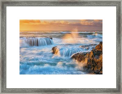 Framed Print featuring the photograph Sunset Fury by Darren White