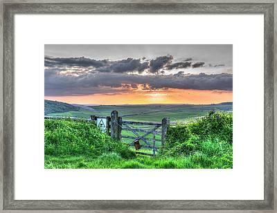 Sunset Gate Framed Print by Hazy Apple