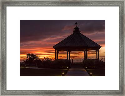 Sunset Gazebo Lavallette New Jersey Framed Print by Terry DeLuco