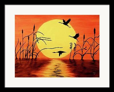 Goose Paintings Framed Prints