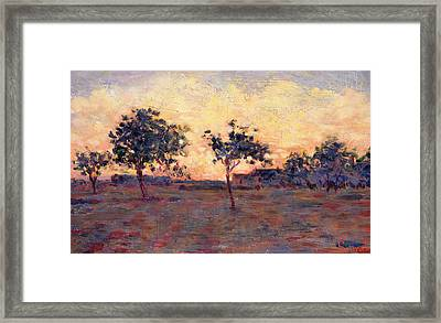 Sunset Framed Print by Georges Pierre Seurat