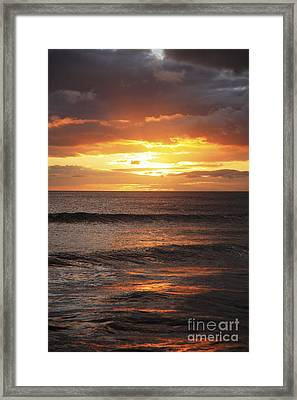 Sunset Glimmering On Ocean Framed Print by Brandon Tabiolo - Printscapes