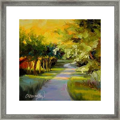 Framed Print featuring the painting Sunset Glow by Chris Brandley