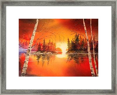 Sunset Glow Framed Print by Marilyn Jacobson