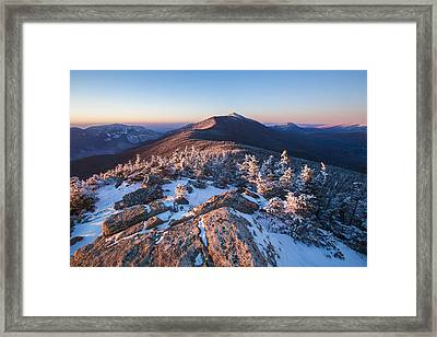 Sunset Glow On Franconia Ridge Framed Print