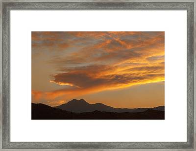 Sunset Glow Over The Twin Peaks Framed Print by James BO  Insogna