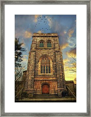 Sunset Gothic Framed Print by Jessica Jenney